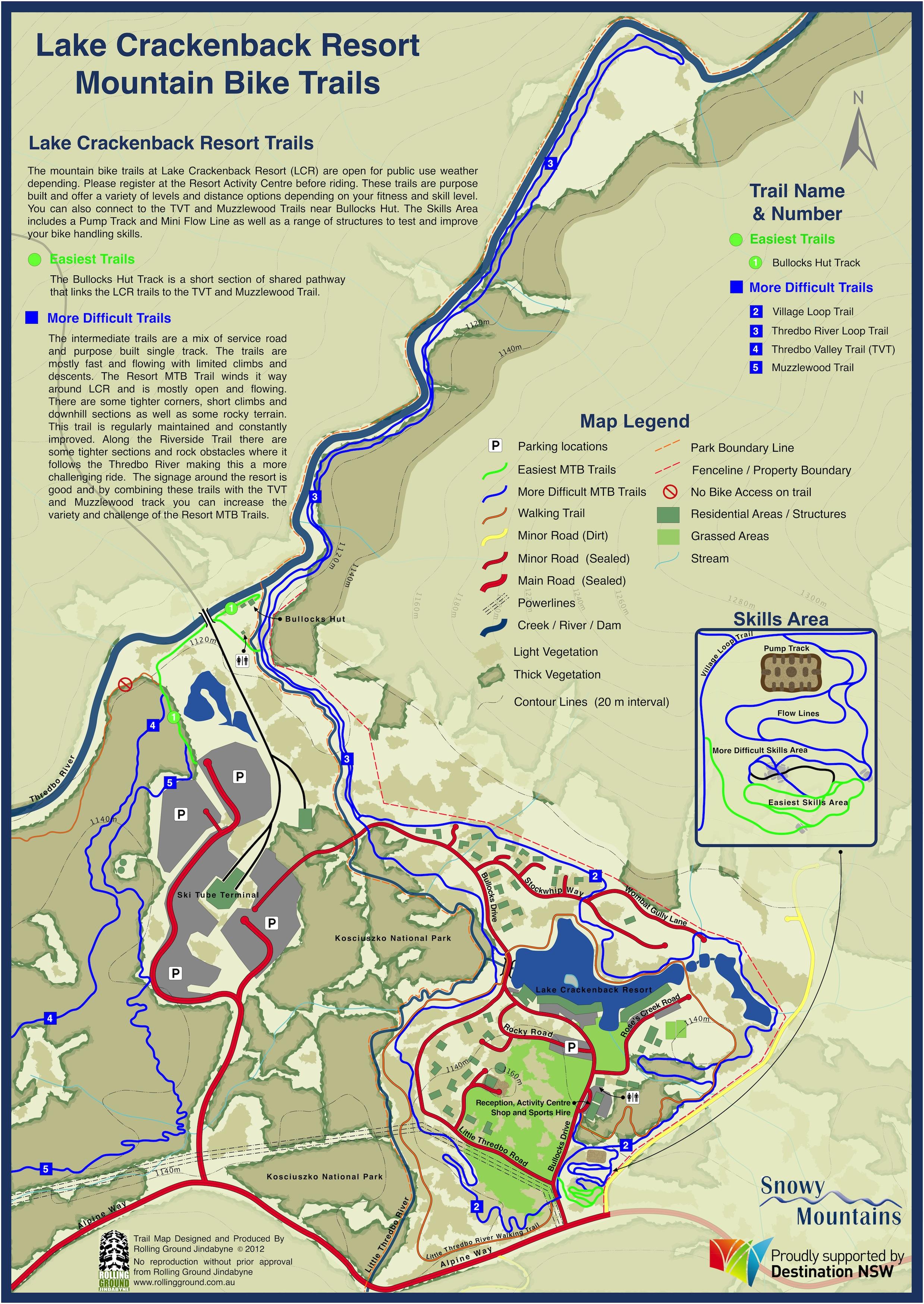 Lake Crackenback Map