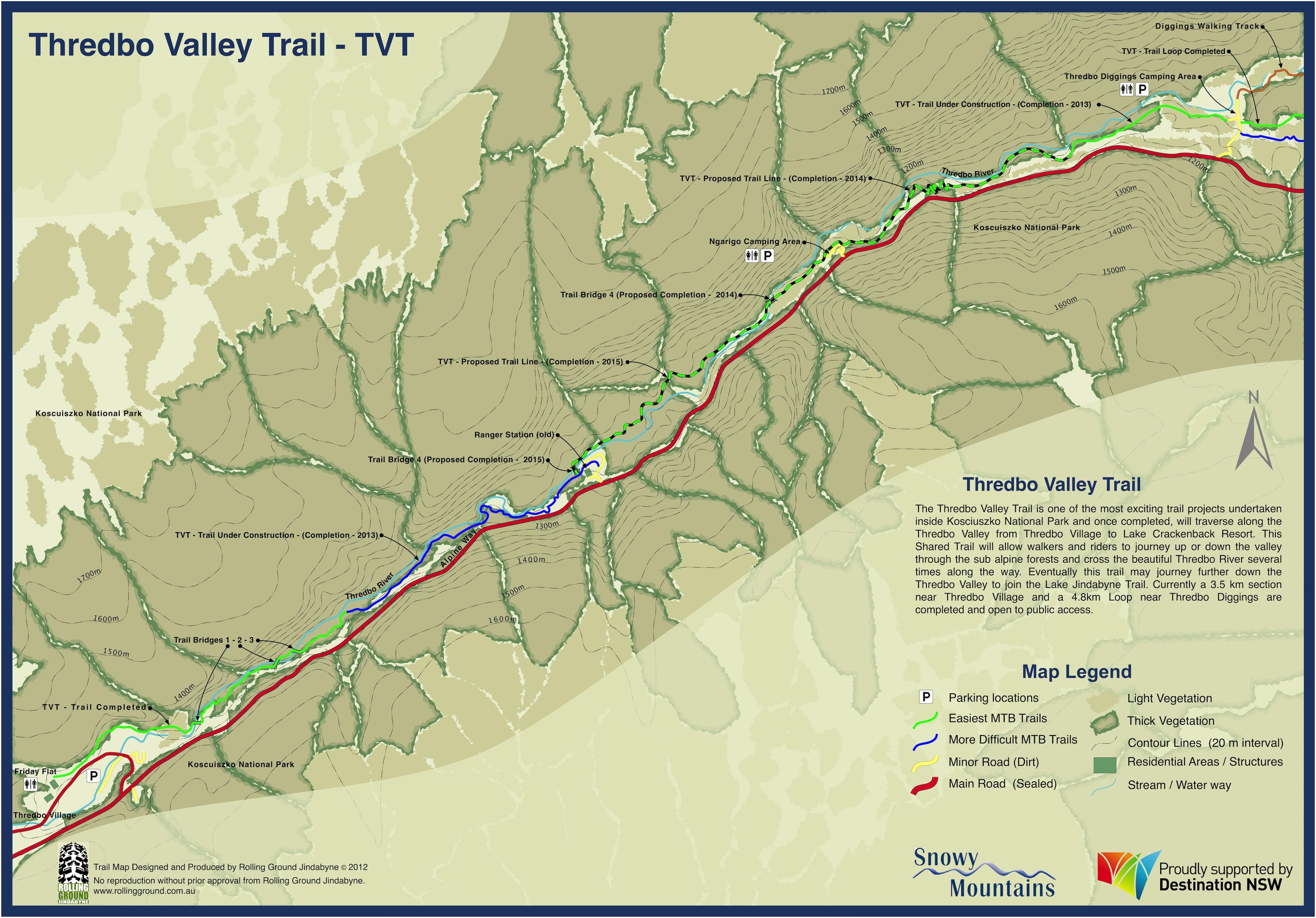 Thredbo Valley Trail Map