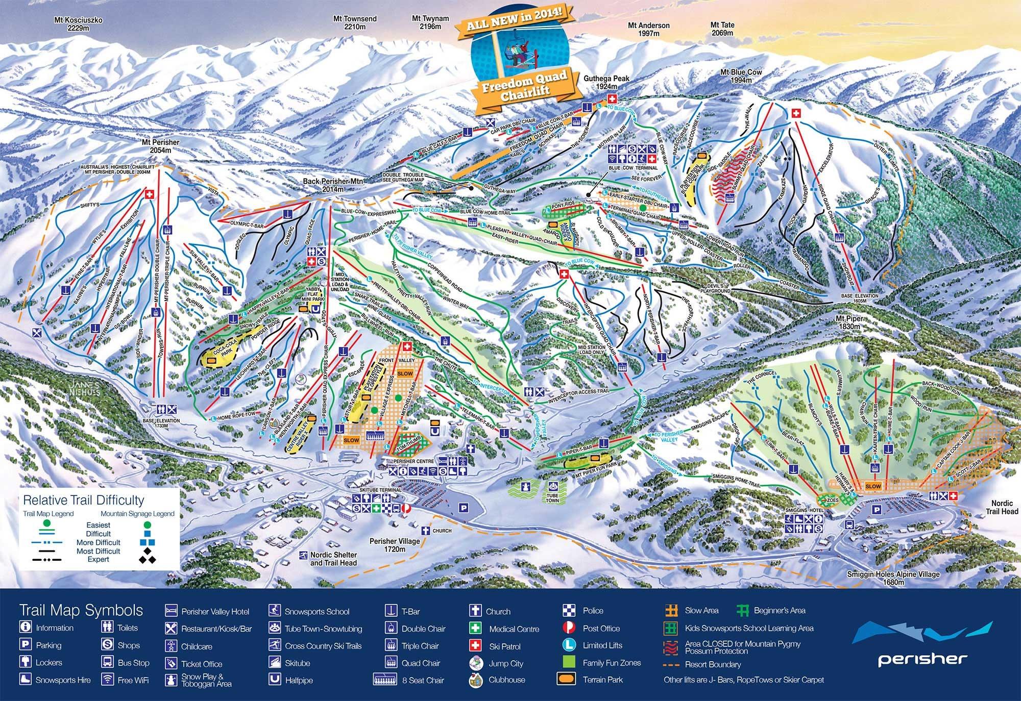 Perisher Ski Map