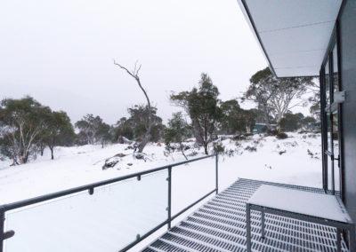 Snow on the balcony