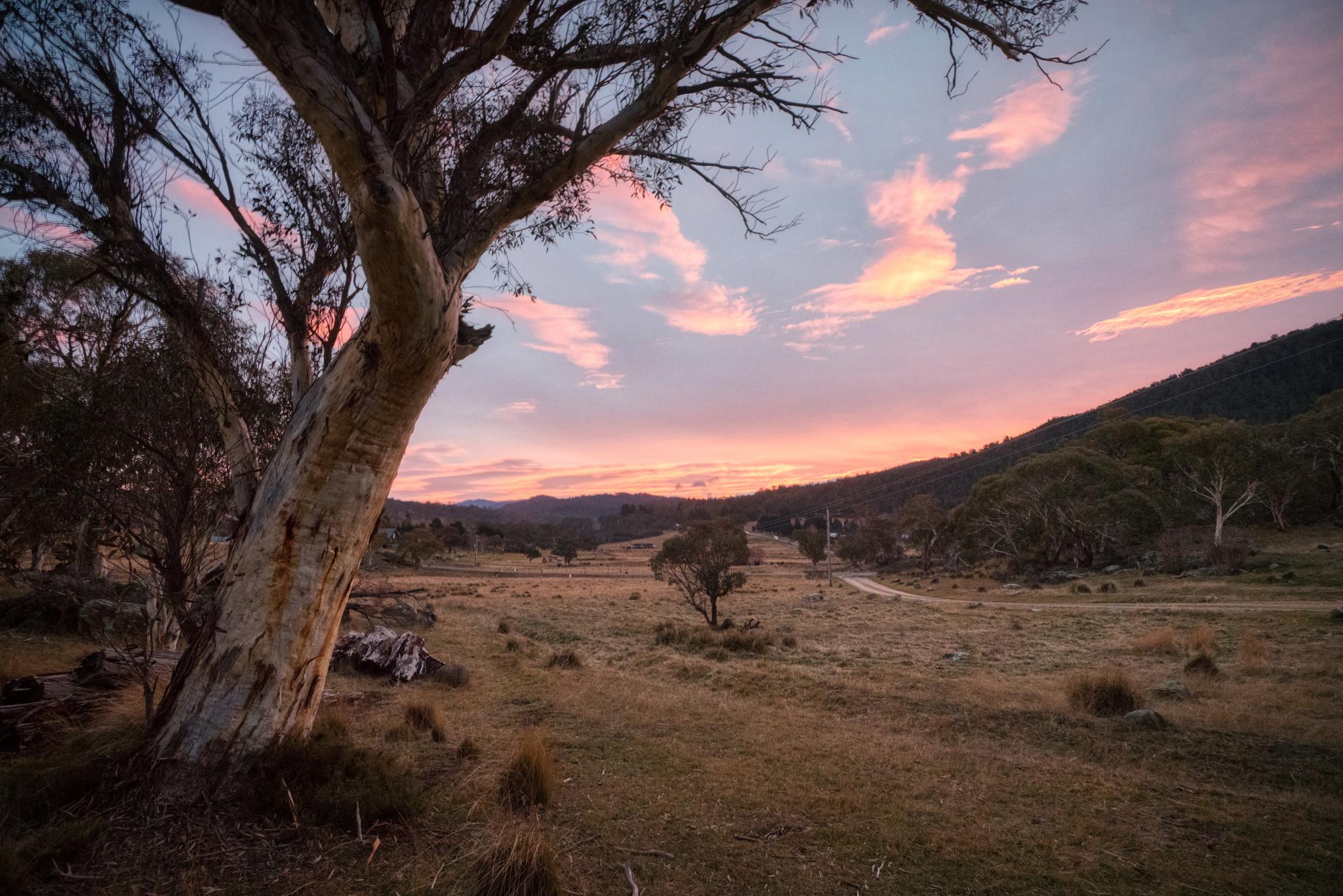 Sunset at Ecocrackenback